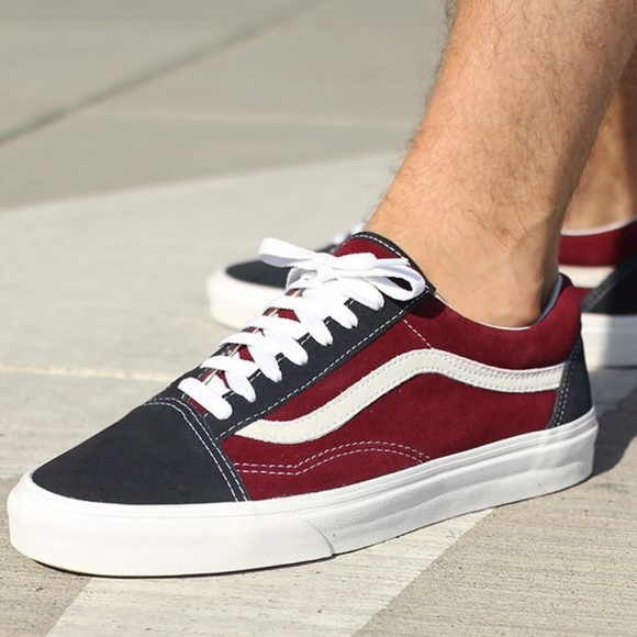 Vans Vintage Old Skool Blue Graphite-Windsor Wine